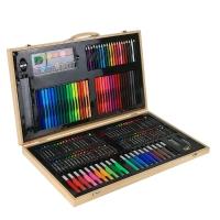 Художественный Набор для творчества в деревянном кейсе 220 предметов