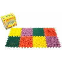 Массажный коврик Орто-пазл Микс Лес 8 пазл 4 цвета