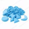 Космический песок Песочница+Формочки Голубой 3 кг(коробка)