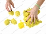 Космический песок Песочница+Формочки Желтый 3 кг(коробка)