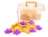 Радужный песок Asmar 1кг + формочки и песочница (пластмассовый кейс)