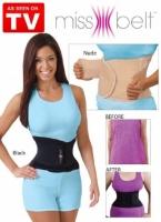 Пояс miss belt (мисс белт ,S/M, 42-48 (63-76 см) цвет черный