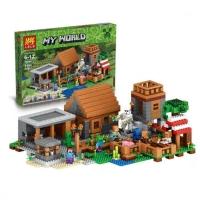Конструктор Lele деревня Minecraft (аналог LEGO Minecraft 21128) 1102 детали
