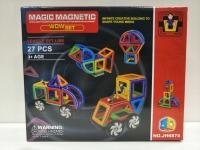 Магнитный Конструктор 27 деталей с колёсами