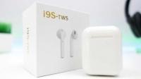 Беспроводные наушники i9S-TWS + чехол Android & iOS (Белые)