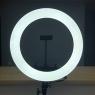 """Лампа кольцевая HQ-18"""" LED Soft PRO 45см с треногой 2,1м. Чехол + держатель"""
