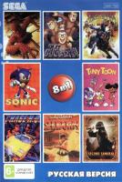 Картридж для Sega 8в1 SAMURAI/SPIDERMAN/TIN TOON/SECOND SAMURAI