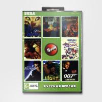 Картридж для Sega 8в1 ALADDIN/TINY TOON ALL STAR/SPIDERMAN