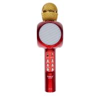Беспроводной караоке микрофон Wster WS-1816 с Led подсветкой Красный