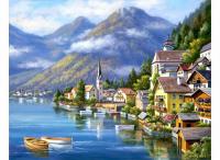 Картина по номерам HS0002 Альпийская деревня