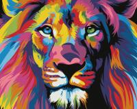 Картина по номерам HS0129 Радужный лев