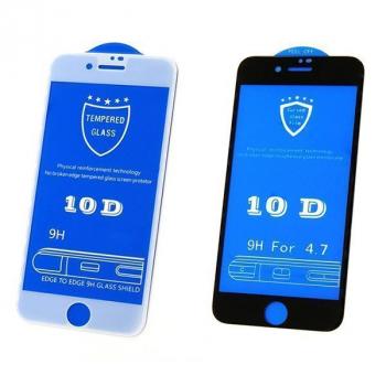 Защитное стекло 10D для Iphone 7plus в мягкой упаковке