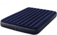 Надувной матрас велюровый синий 152х203х25