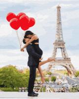 Картина по номерам ZX 23798 Красные шарики влюбленных 40*50