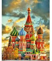Картина по номерам Q5216 Храм Василия Блаженного 40*50