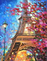 Картина по номерам Q3478 Осень в Париже 40*50