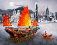 Картина по номерам Q5049 Гонконг 40*50
