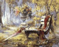 Картина по номерам ZX 21041 Осенняя скамейка 40*50