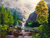 Картина по номерам ZX 21622 Водопад в горах 40*50