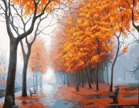 Картина по номерам ZX 21922 Осенняя тропинка 40*50