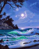 Картина по номерам ZX 23907 Полнолуние на пляже 40*50