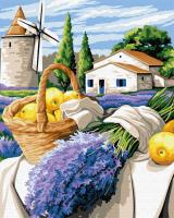 Картина по номерам ZX 23723 Урожай Прованса 40*50