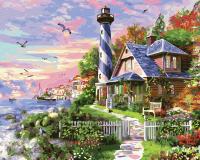 Картина по номерам ZX 23734 Домик смотрителя маяка 40*50