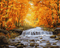 Картина по номерам ZX 23763 Золотой водопад 40*50