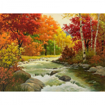 Картина по номерам Q3298 Золотая осень 40*50