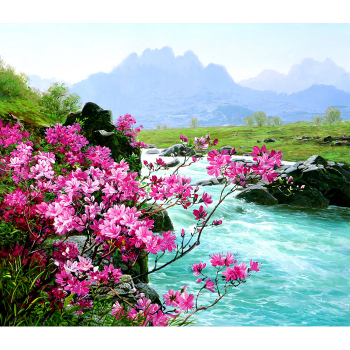 Картина по номерам Q3424 Горная река 40*50