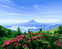 Картина по номерам Q5027 Рассвет в горах 40*50