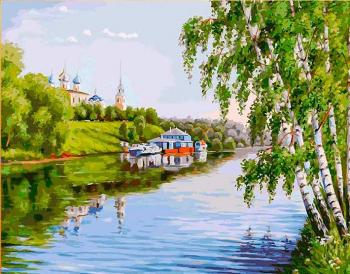 Картина по номерам Q4796 На высоком берегу 40*50